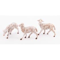 Pecore presepe set 3 pezzi 19 cm Fontanini