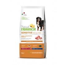 Crocchette per cani Trainer sensitive medium/maxi adult maiale 12 Kg