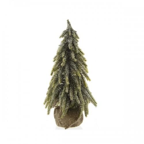 Albero di Natale mini in sacco di Juta Kaemingk 35 cm