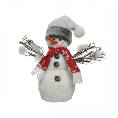 Pupazzo di neve Kaemingk con sciarpa e cappello