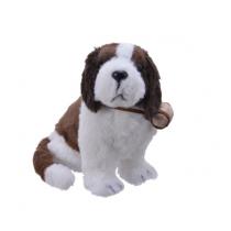 Peluches cane Kaemingk San Bernardo con botte decorazione natalizia