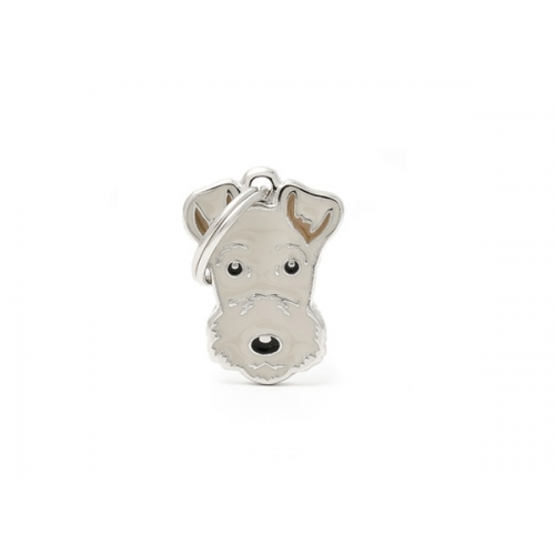 MY FAMILY - FRIENDS - Lakeland Terrier - Medaglietta incisibile smaltata a mano
