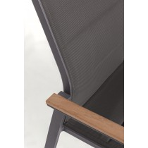 Sedia con braccioli Kubik Bizzotto 0662175