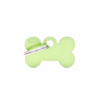 MY FAMILY - Basic Alluminio - Osso Piccolo Verde - Medaglietta incisibile