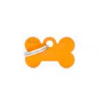 MY FAMILY - Basic Alluminio - Osso Piccolo Arancione - Medaglietta incisibile