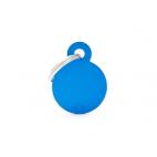 MY FAMILY - Basic Alluminio - Cerchio Piccolo Blu - Medaglietta incisibile