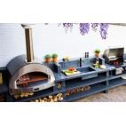 Forno a legna Alfa Pizza 4 pizze top colore grigio