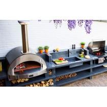Forno a legna Alfa Pizza 4 pizze con base