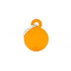 MY FAMILY - Basic Alluminio - Cerchio Piccolo Arancione - Medaglietta incisibile
