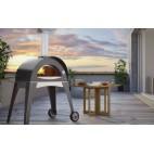 Forno a legna Alfa Pizza Ciao con base colore grigio