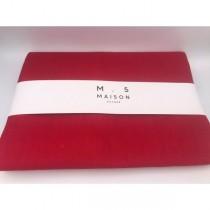 Tovaglia da tavola Maison Sucree Essenziale in lino e cotone colore rosso
