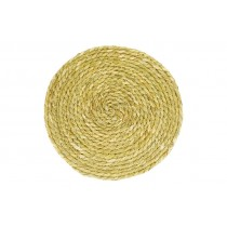 Tovaglietta rotonda in paglia intrecciata Dijk