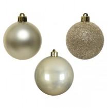Palline di Natale Kaemingk 10 plain baubles perla