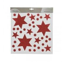 Adesivi per finestre natalizi in PVC Kaemingk stelle glitterate