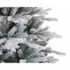 Albero di natale bianco innevato pino Kaemingk Frosted Vermont Spruce 210 cm