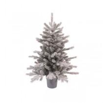Albero di Natale mini Kaemingk grigio Grandis frosted 60 cm