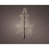 Albero di Natale led in metallo Kaemingk 135 cm