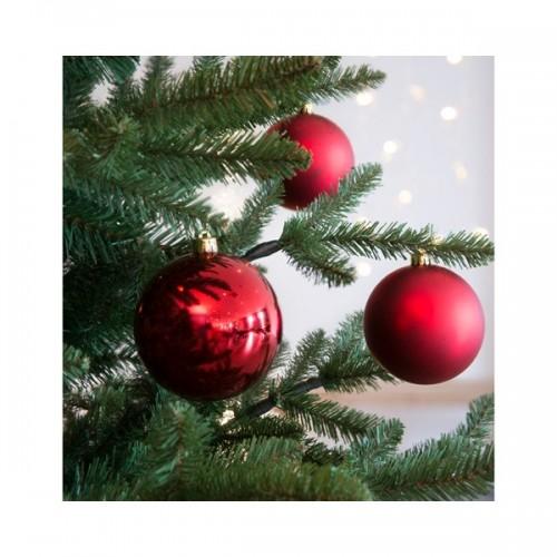 Palline di Natale Kaemingk 4 plain baubles rosso Natale