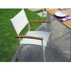 GREENWOOD Sedia impilabile Bastia da esterno - In teak e alluminio