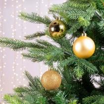 Palline di Natale Kaemingk 10 plain baubles dorate