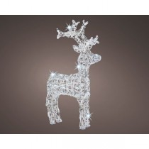 Renna Natale luminosa Kaemingk 50 LED bianco freddo