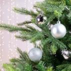 Palline di Natale Kaemingk 10 plain baubles argento