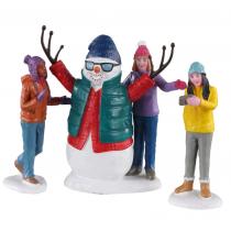 Lemax Snowman selfie villaggio di Natale