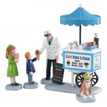 Lemax Happy Scoops Ice Cream Cart villaggio di Natale