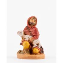 Pastore in ginocchio Statuina presepe Fontanini 6,5 cm