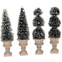 Lemax Cone Shaped & Sculpted Topiaries villaggio di Natale
