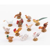 Animali presepe Set 12 gallinacei 10 cm Fontanini