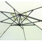GREENWOOD 5024 Ombrellone quadrato da esterno con maniglione - Diametro 300cm - Colore écru