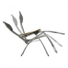 LAFUMA Relax FUTURA LFM3062 Sedia Pieghevole Multiposizione da esterno - In acciaio grigio - Colore segale