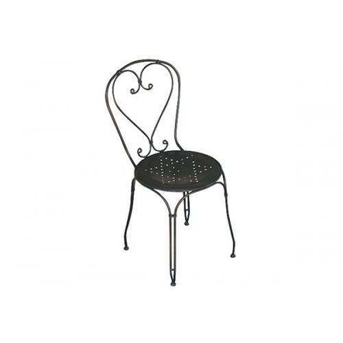 Greenwood sedia stresa impilabile in ferro battuto