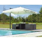Greenwood ombrellone quadrato E5011 con palo laterale 3 x 3 m