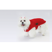 FASHION DOG - Cappottino in Pile - Rosso - Taglie Multiple