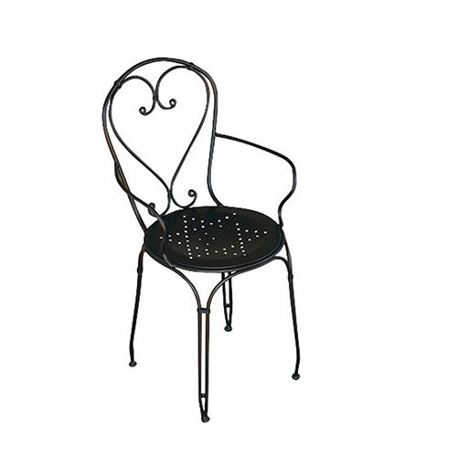 Sedia da giardino in ferro con braccioli Greenwood Stresa CHF 04