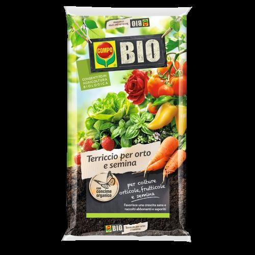 Compo terriccio bio per orto e semina