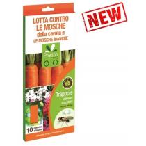 Trappole adesive contro le mosche della carota e le mosche bianche
