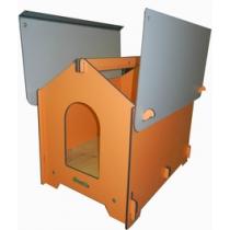 CUCCIOLOTTA Classica - Cuccia da esterno per Cani con tetto multistrato HPL - 3 Misure