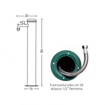 Fontana in acciaio antiruggine Bel-Fer 42/ARI