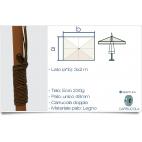 Greenwood ombrellone in legno E4001