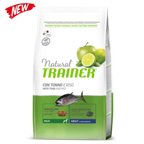 Trainer natural adult maxi pesce e riso 12 Kg (ex formato 12,5 Kg)