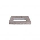 Bel-Fer base rettangolare in granito per fontanella con area riempimento per ciottoli 42/BSR