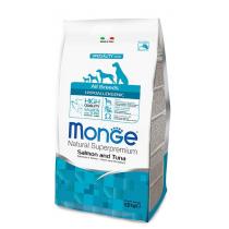 Crocchette per cani Monge all breeds hypoallergenic salmone e tonno 12 Kg