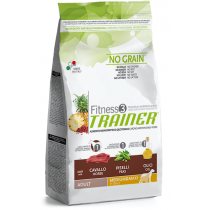 Crocchette per cani Trainer fitness 3 adult medium maxi cavallo, piselli e olio 12,5 kg