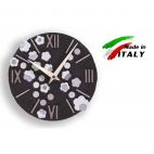 Cartapietra orologio da parete tondo in basso rilievo seta lavagna 430105 diametro 30cm