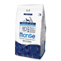 Crocchette per cani Monge medium puppy & junior 12 Kg