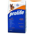 Crocchette per cani Prolife adult tacchino e orzo 15 Kg