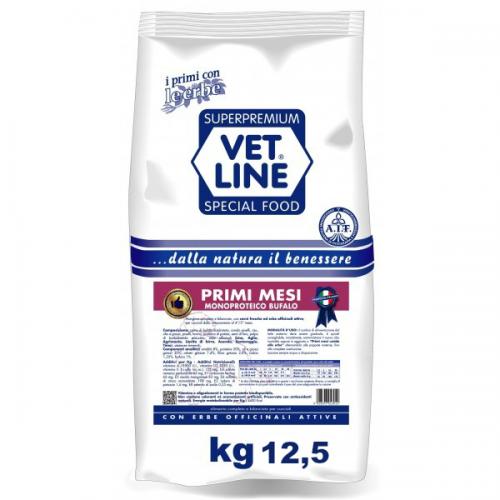 Crocchette per cani Vet Line primi mesi bufalo 12,5 Kg